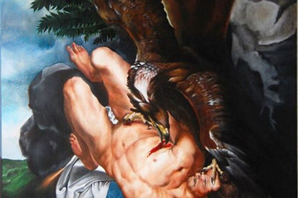 Oil painting on canvas 70 cm x 80 cm