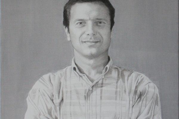 Retrato a grafite 70cm x 70cm
