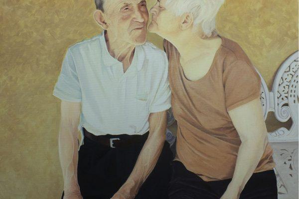 Pintura a óleo sobre tela 70 cm x 70 cm