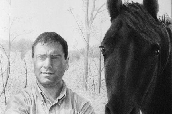 Retrato a carvão sobre papel – 48cm x 48cm
