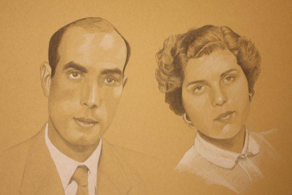 Retrato a grafite 30cm x 40cm